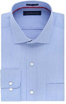 Tommy Hilfiger Men's Non Iron Regular Fit Stripe Spread Collar Dress Shirt