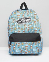 Vans Toy Story Backpack In Woody Print