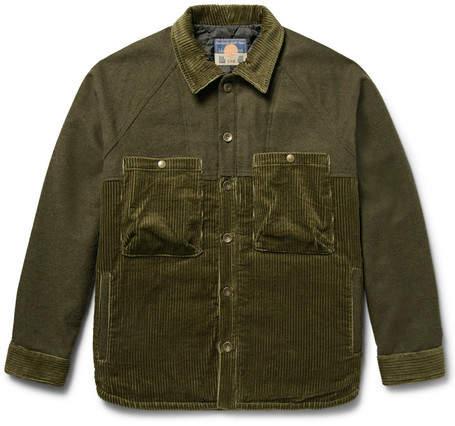 Blackmeans Mélange Felt And Cotton-Corduroy Jacket