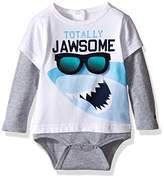 Tommy Hilfiger Baby Boys' Shark Double Long Sleeve Onesie