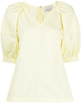3.1 Phillip Lim Puff Sleeve Cotton Blouse