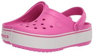 Crocs Crocbandtm Platform Clog (Little Kid/Big Kid) (Electric Pink) Girl's Shoes