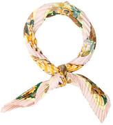 Hermes Les Bolides Plisse Silk Scarf