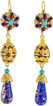 Jose & Maria Barrera Cloisonne Linear Teardrop Earrings