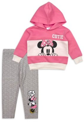 Minnie Mouse Disney Baby Girl Hoodie & Leggings Outfit, 2pc sets