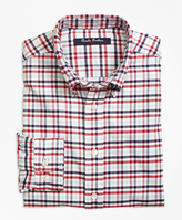 Brooks Brothers Supima® Cotton Oxford Multi Check Plaid Sport Shirt