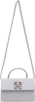 Off-White Grey Wrinkled Jitney 1.4 Bag