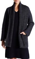 Vince Wool Blend Knit Car Coat
