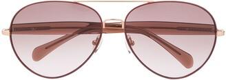 Linda Farrow x Matthew Williamson Primrose aviator sunglasses