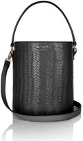 Meli-Melo Santina Mini Bucket Bag Black Large Woven