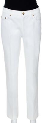 Roberto Cavalli White Denim Embellished Pocket Detail Jeans M