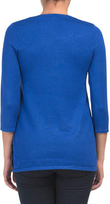 V-neck Tunic With Grommet Lacing Detail