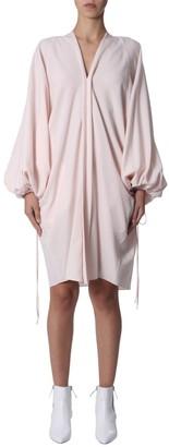 Lanvin V-Neck Puff Sleeve Dress