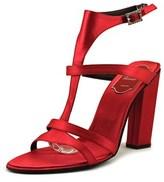 Roger Vivier Sandalo Rome Tacco 100 Women Open Toe Canvas Red Platform Heel.