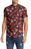 The Kooples Printed Short Sleeve Fitted Shirt