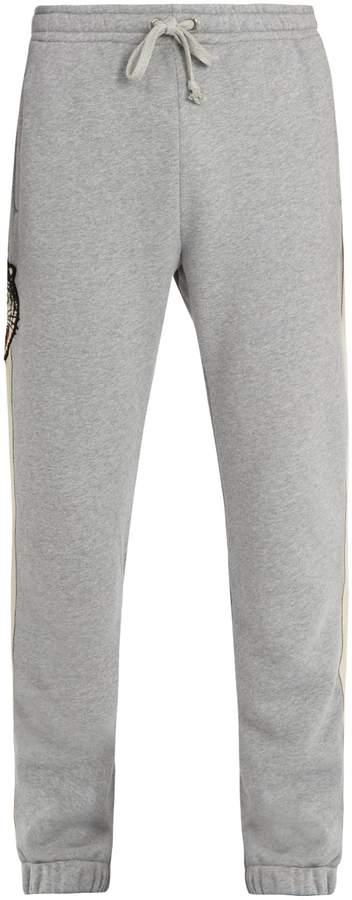 Gucci Angry Cat-appliqué cotton track pants