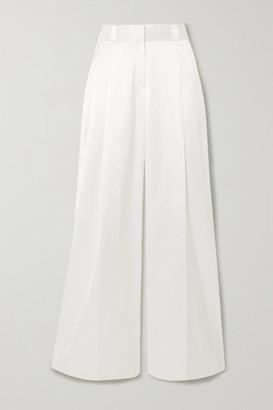 GAUGE81 Cleveland Pleated Cotton-blend Wide-leg Pants - White