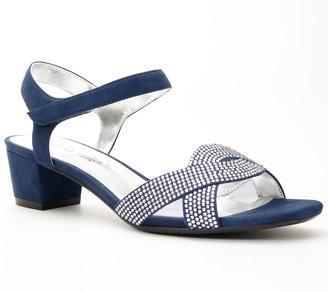 David Tate Adjustable Rhinestone Evening Sandals - Rain