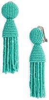 Oscar de la Renta Women's 'Classic Short' Tassel Drop Earrings