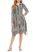Alex Marie Kamal Printed Shirt Dress