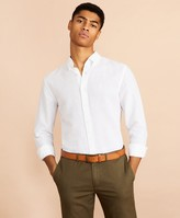 Brooks Brothers Garment-Dyed Linen-Cotton Shirt