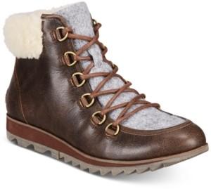Sorel Women's Harlow Lace Cozy Lug Sole Boots Women's Shoes