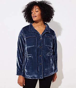 LOFT Plus Velvet Utility Jacket