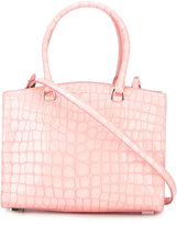 Rochas crocodile texture tote bag - women - Goat Skin - One Size