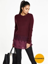 Very Crew Neck Lace Insert Jumper