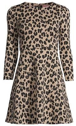 Kate Spade Forest Feline Leopard Flared Dress
