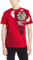 Southpole Men's High Definition and Screen Print Tee with Wings and Logo In Cyrillic