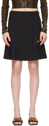 Versace SSENSE Exclusive Black Safety Pin Miniskirt