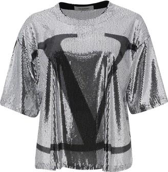 Valentino VLogo Sequinned T-Shirt