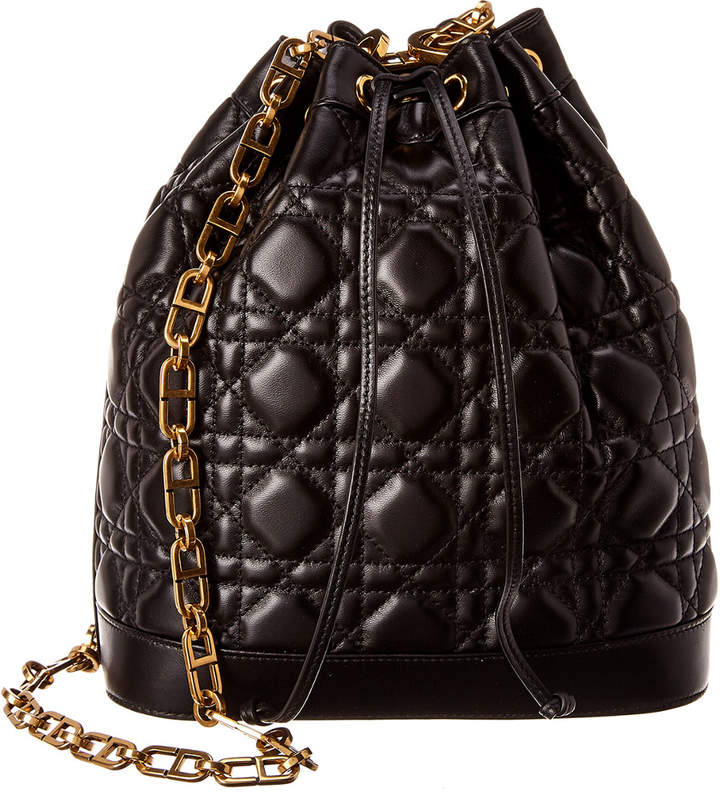 d5092f34ac Large Miss Cannage Quilted Leather Bucket Bag