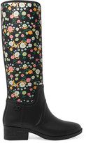 Tory Burch April Floral-Print Neoprene And Rubber Rain Boots