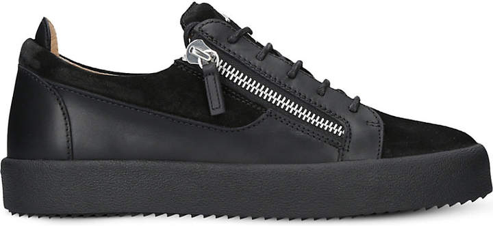 Giuseppe Zanotti Panelled leather and suedre trainers