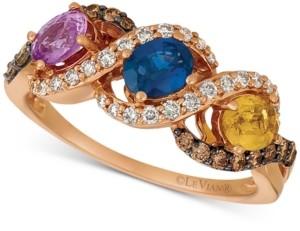 LeVian Le Vian Multi-Gemstone (1-1/8 ct. t.w.) & Diamond (1/5 ct. t.w.) Ring in 14k Rose Gold