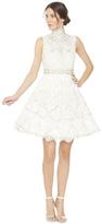 Alice + Olivia Lilian Open Back Sleeveless Short Gown