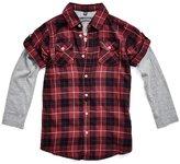 GUESS Layered Plaid Shirt (2-7)