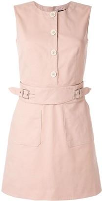 Paule Ka sleeveless shift dress