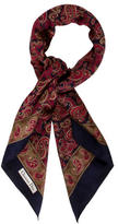 Christian Dior Paisley Printed Woven Scarf