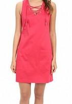 Calvin Klein Pink Women's Size 6 Lace Up V-Neck Sheath Dress