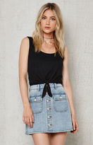 PacSun Button-Front Denim Mini Skirt