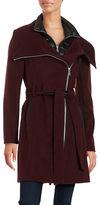 BCBGeneration Belted Wool-Blend Coat