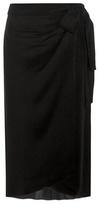 Isabel Marant Bezak Silk-blend Crêpe Wrap Skirt