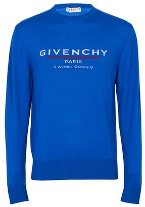 Givenchy Address logo wool crew knitwear