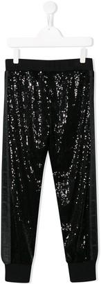 MSGM Kids sequin jogging pants