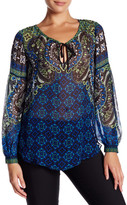 Hale Bob Bishop Sleeve Silk Blouse