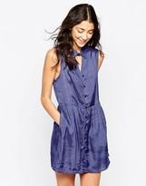 RVCA Printed Sleeveless Skater Dress