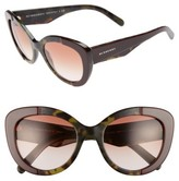 Burberry Women's 54Mm Gradient Butterfly Sunglasses - Red/ Green